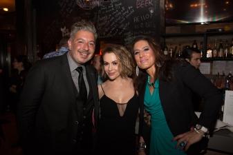 Alyssa Milano and party guests