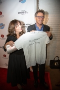 Creative Coalition CEO RObin Bronk and TCC president Tim Daly