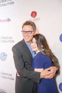The Creative Coalition_s President Tim Daly and TV daughter Kathrine Herzer (Madame Secretary)
