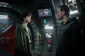 Katherine Waterston (Daniels) and Michael Fassbender (Walter) star in ALIEN: COVENANT