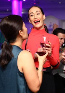 Maggie Q and Line 39 wines