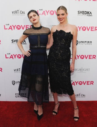 "LOS ANGELES, CA - AUGUST 23: Alexandra Daddario and Kate Upton attends ""The Layover"" film premiere hosted by Vertical Entertainment, Direct TV, Foster Grant and SVEDKA on August 23, 2017 in Los Angeles, California. (Photo by Amy Graves/Wireimage) *** Local Caption ***Alexandra Daddario;Kate Upton"