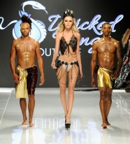 LOS ANGELES, CA - OCTOBER 06: Models walk the runway wearing Wicked Things Boutique at Los Angeles Fashion Week SS18 Art Hearts Fashion LAFW on October 6, 2017 in Los Angeles, California. (Photo by Arun Nevader/Getty Images for Art Hearts Fashion)
