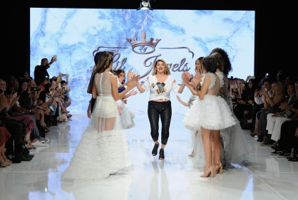 LOS ANGELES, CA - OCTOBER 07: Lil Jewels Boutique fashion designer walks the runway at Los Angeles Fashion Week SS18 Art Hearts Fashion LAFW on October 7, 2017 in Los Angeles, California. (Photo by Arun Nevader/Getty Images for Art Hearts Fashion)