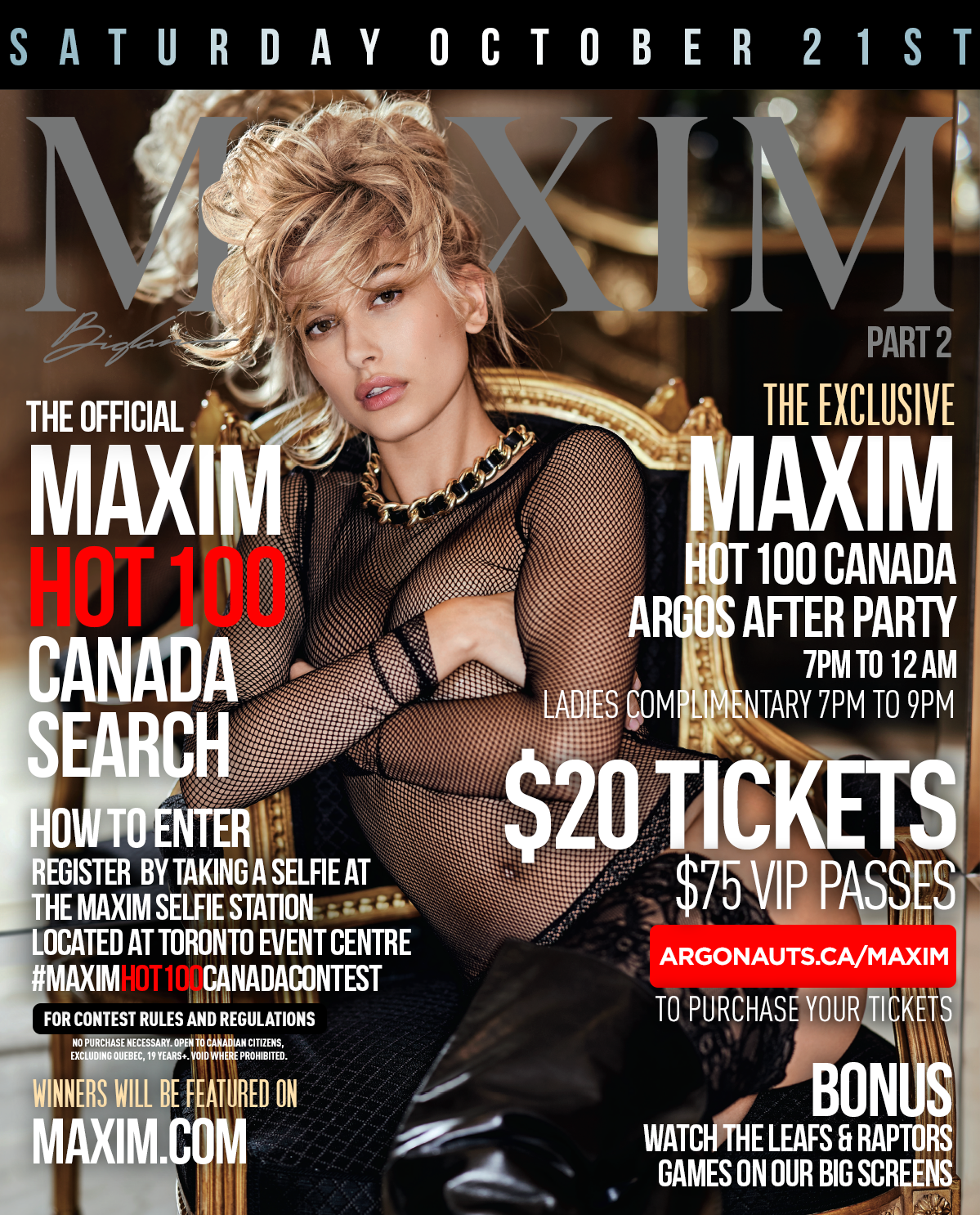 Maxim Hot 100 Canada Search & After Party (Sat  Oct 21, 2017