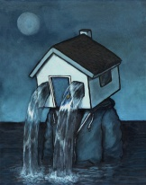 Luke Chueh_'Personal Space – Flooded_ (acrylic on panel, 14 x 11 inches)