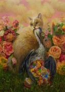 Martin Wittfooth 'Pandora_ (oil on canvas, 60 x 42 inches)
