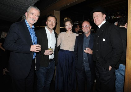 """-Hollywood, CA - 11/14/2018 SONY Picture Classics Presents """"Stan & Ollie"""" Special Screening After-party hosted By Guillotine Vodka -PICTURED: Patrick Duffy, Mark Coulier, John C. Reilly -PHOTO by: Michael Simon/startraksphoto.com -MS_46316 Startraks Photo New York, NY For licensing please call 212-414-9464 or email sales@startraksphoto.com"""