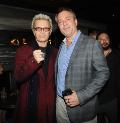 """-Hollywood, CA - 11/14/2018 SONY Picture Classics Presents """"Stan & Ollie"""" Special Screening After-party hosted By Guillotine Vodka -PICTURED: Billy Idol, David Manning -PHOTO by: Michael Simon/startraksphoto.com -MS_46333 Startraks Photo New York, NY For licensing please call 212-414-9464 or email sales@startraksphoto.com"""